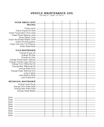 Vehicle Maintenance Record Book Download By Vehicle Maintenance Log Book Template Sample Excel Free