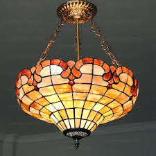 antique pendant lights colored glass hanging shell shade inch diameter p