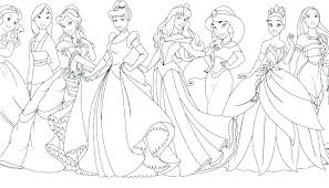 Free Princess Coloring Pages Printable All Disney To Print Pdf