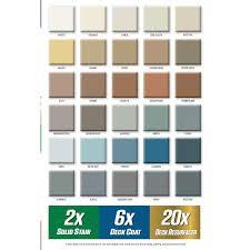 Rustoleum 4x Color Chart Rust Oleum Rocksolid 5 Gal Forest Exterior 6x Deck Coat