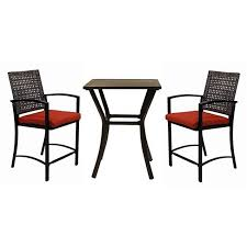 furniture exciting 3 piece outdoor dining set mille