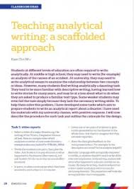 writing analysis teaching analytical writing a scaffolded approach by kam yin wu