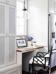 vintage home office. Small And Vintage Home Office Design With All White Interior Color Decorating Ideas Plus Creative Hanging Glass Lamp Above Wooden Desk