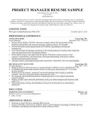 project management resumes saindeorg construction manager resume sample