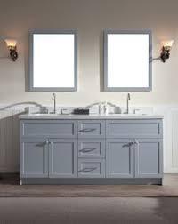 ariel f073d wq hamlet 73 free standing vanity set with wood cabinet quartz top grey fixture vanity double
