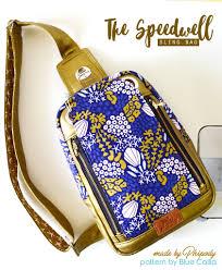 Blue Calla Patterns Enchanting The Speedwell Sling Bag PDF Sewing Pattern Blue Calla Patterns