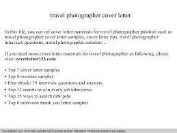 Travel Photographer Cover Letter