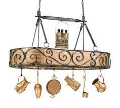 pot rack chandelier authentic iron and copper lighted hanging pot rack inside prepare rooster pot rack chandelier