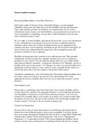 What Is Resume Headline Example Examples Of Resumes For Mba