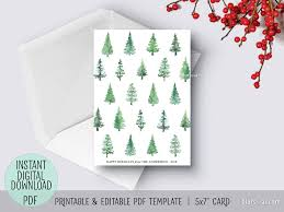 Happy Holiday Card Templates Editable Pdf Christmas Card Template Abstract Watercolor