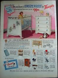 Vintage Furniture Ad | 1956 For Thayer Baby Furniture Vintage  Clothes, Dresses