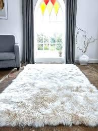 white faux sheepskin rug large fur luxurious champagne rugs decor rustic 8x10