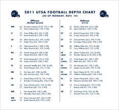 13 Football Depth Chart Template Free Sample Example