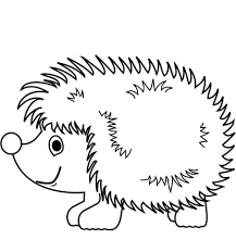 Cute Hedgehog Coloring Page Free Printable Coloring Pages
