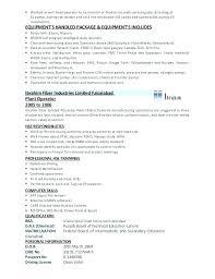 Chemical Operator Resume Chemical Operator Resume Production Oper Resume Sample Best Of