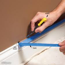 let paint dry then cut the tape loose for a perfect edge
