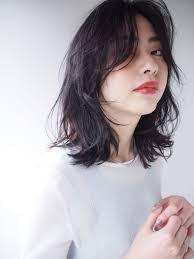切りっぱなしlobウルフレイヤー 女性の髪2019 モテ ヘアヘア