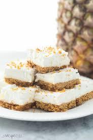 Light Fluffy Desserts Moms Almost No Bake Pineapple Squares