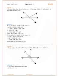 Angl Es Ncert Solutions For Class 9 Maths Chapter 6 Lines And Angles Free Pdf