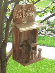 check out this unique and fun bird or even squirrel feeder this handmade saloon bird feeder is not only useful for feeding birds but it will also catch