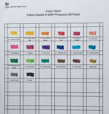 Faber Castell Classic Colour Chart Color Chart For Faber Castell Grip Finepens The Coloring Inn
