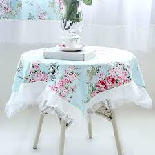 shabby chic table cloth tablecloth rose square clothes .