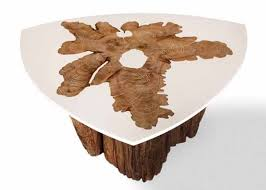 Growth Tables Modern Coffee Tables With Tree Growth Rings Unique