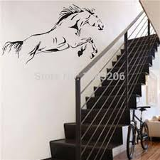 high quality waterproof black jumping horse art wall stickers vinyl decal stylish home graphics bedroom decoration small order no tracking wall decor  on horse wall decor stickers with high quality waterproof black jumping horse art wall stickers vinyl