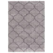 concord global trading plush quatrefoil gray 3 ft x 5 ft area rug