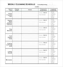 Examples Of Cleaning Schedules Cleaner Duties And Responsibilities Resume Maintenance Job