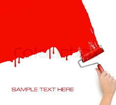 paint roller background. Wonderful Paint Hand With Red Roller Painting The White Wall Background Vector  Stock  Vector Colourbox Inside Paint Roller Y