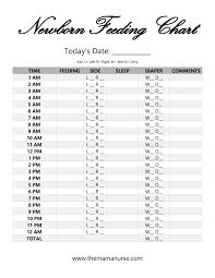 Newborn Feeding Chart Printable Jasonkellyphoto Co