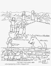 Small Picture Coloring Pages for Kids by Mr Adron The Boy Who Cried Wolf Free