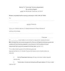 Terminate A Lease Letter Day Notice To Vacate Letter Tenant Landlord Template Free