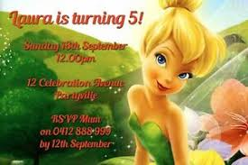 Tinkerbell Invitations Printable Details About Printable Invite Personalised Tinkerbell Invitation Jpeg You Print And Save