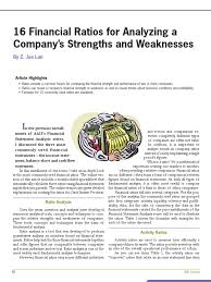 financial ratios to determine a company s strength and 16 financial ratios to determine a company s strength and weaknesses revenue ratio