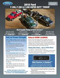 2017 F250 Towing Capacity Chart 2010 Ford Superduty Truck Towing Guide Specifications