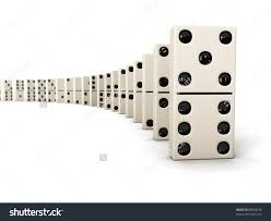 domino effect row white dominoes isolated stock illustration domino effect row of white dominoes isolated on white background