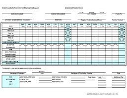 Employee Attendance Tracking Template Excel And Employee Attendance ...