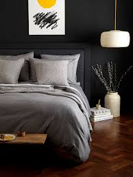 bedding for black furniture. wonderful for dark u0026 dramatic grey bedroom with our relaxed denim graphite bed linen intended bedding for black furniture k
