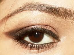 an edgy brown smokey eye makeup