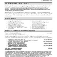 Beautiful Building Superintendent Resume Pictures Inspiration