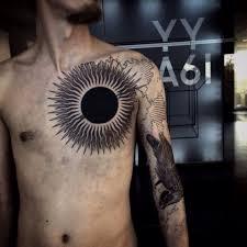 черное солнце Furyink Tattoo Collection Ink Sun Tattoo
