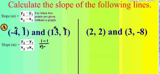 calculating slope of two points without a graph
