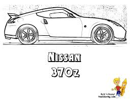 Coloring Nissan Gt R Car Coloring