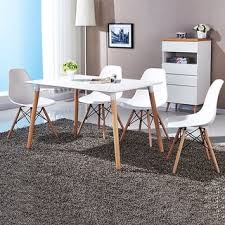 modern dining room table chairs. Beautiful Chairs COSTWAY Set Of 4 Mid Century Modern Style DSW Dining Side Chair Wood Leg With Room Table Chairs N