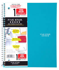Amazon Com Five Star Spiral Notebook 1 Subject Wide Ruled Paper