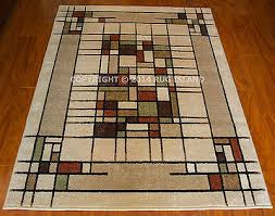 arts crafts mission style indoor outdoor area rug free 2