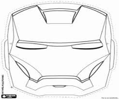 Kleurplaat Het Masker Van Iron Man Kleurplaten