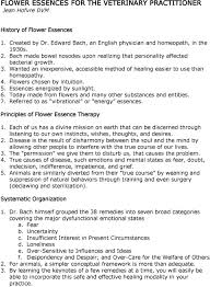 Bach Flower Remedies Chart Flower Essences For The Veterinary Practitioner Jean Hofvre